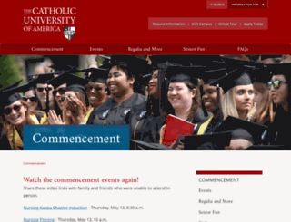 commencement.cua.edu screenshot