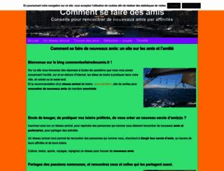 commentsefairedesamis.fr screenshot