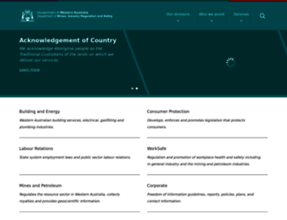 commerce.wa.gov.au screenshot