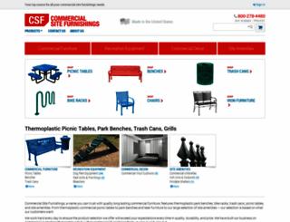 commercialsitefurnishings.com screenshot