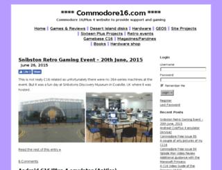 commodore16.com screenshot