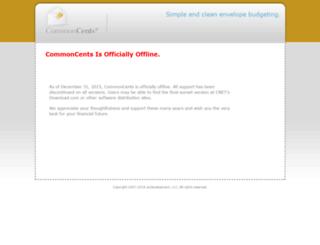 commoncentssoftware.com screenshot