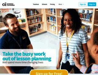 commoncurriculum.com screenshot