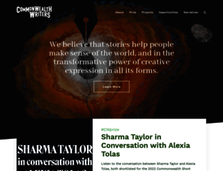 commonwealthwriters.org screenshot