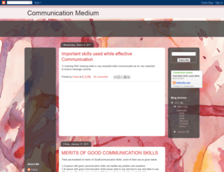 communication-medium.blogspot.com screenshot