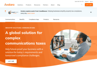 communications.avalara.com screenshot