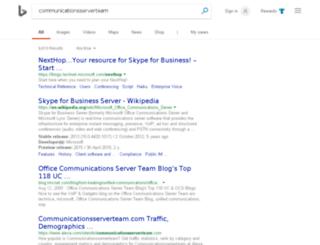 communicationsserverteam.com screenshot