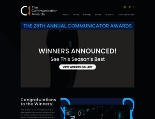 communicatorawards.com screenshot