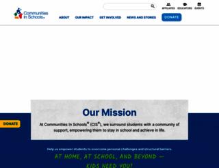 communitiesinschools.org screenshot