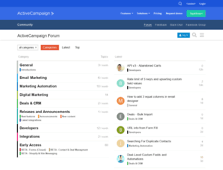 community.activecampaign.com screenshot