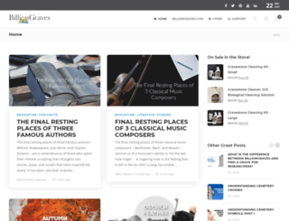 community.billiongraves.com screenshot