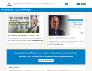 community.citizensclimatelobby.org screenshot