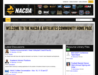 community.nacda.com screenshot