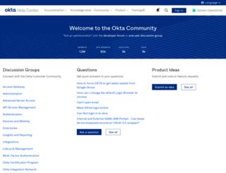community.okta.com screenshot