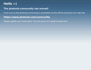 community.photoolsweb.com screenshot