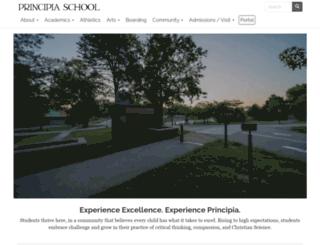 community.principia.edu screenshot