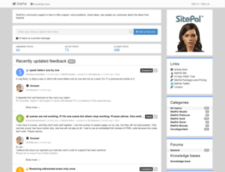 community.sitepal.com screenshot