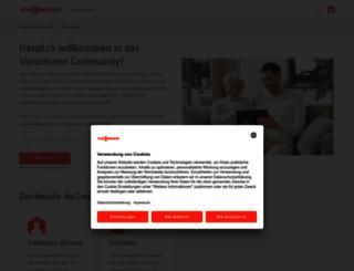 community.viessmann.com screenshot