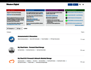 community.wd.com screenshot