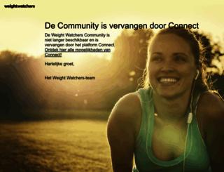 community.weightwatchers.be screenshot