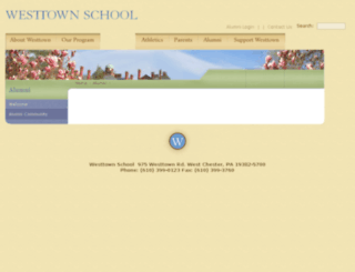 community.westtown.edu screenshot