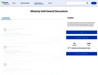 community.whatsupgold.com screenshot