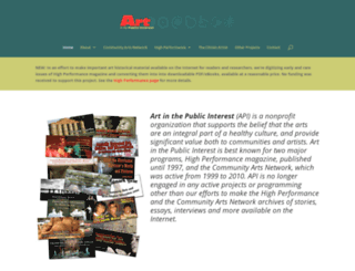 communityarts.net screenshot