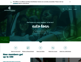 communitychoicecu.com screenshot