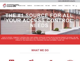 communitycontrols.com screenshot