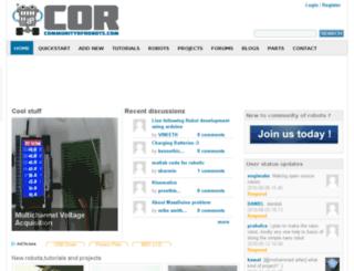 communityofrobots.com screenshot