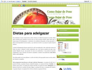 comobajardepesoweb.blogspot.com screenshot