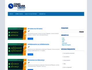 comoescrevercerto.com.br screenshot