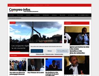comores-infos.net screenshot