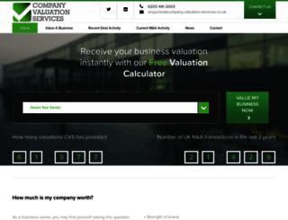 company-valuation-services.exvn.com screenshot