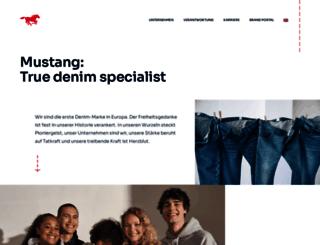 company.mustang-jeans.com screenshot