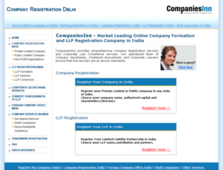 companyregistrationdelhi.com screenshot