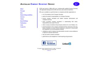 companysecretary.com.au screenshot