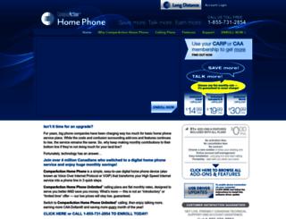 comparactionhomephone.com screenshot