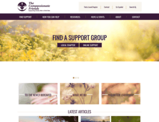 compassionatefriends.org screenshot