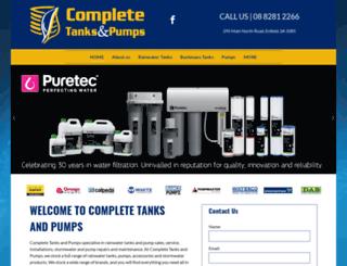 completetanksandpumps.com.au screenshot