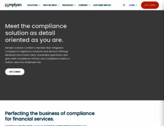complysci.com screenshot