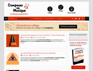 composer-sa-musique.fr screenshot