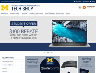 computershowcase.umich.edu screenshot