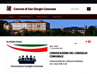 comune.sangiorgiocanavese.to.it screenshot