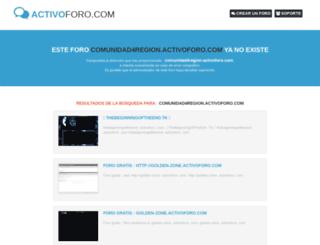 comunidad4region.activoforo.com screenshot