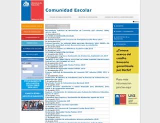 comunidadescolar.cl screenshot