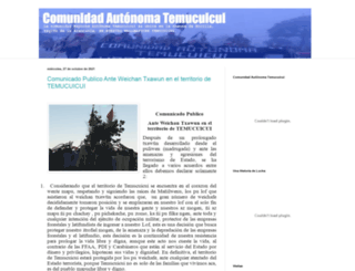 comunidadtemucuicui.blogspot.com screenshot