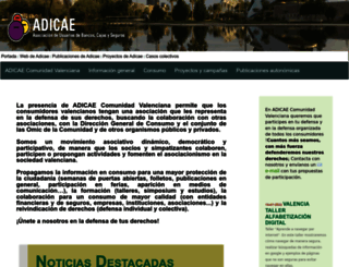 comunidadvalenciana.adicae.net screenshot