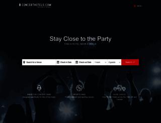 concerthotels.com screenshot