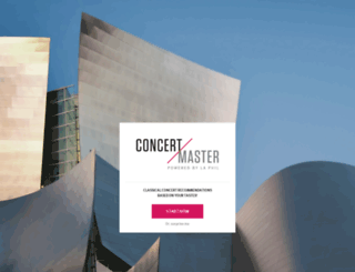concertmaster.laphil.com screenshot